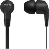Гарнитура вкладыши Philips TAE1105BK/00 1.2м черный проводные в ушной раковине