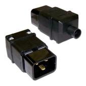 Вилка Lanmaster LAN-IEC-320-C20 IEC 60320 C20 16A 250V black