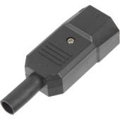 Вилка Lanmaster LAN-IEC-320-C14 IEC 60320 C14 10A 250V black