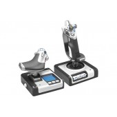 Геймпад Logitech G Saitek X52 Flight Control System черный/белый USB виброотдача