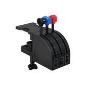 Блок рычагов Logitech G Saitek PRO Flight Throttle Quadrant черный USB виброотдача