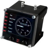 Панель радиоприборов Logitech G Saitek Pro Flight Instrument Panel черный USB виброотдача