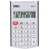 Калькулятор карманный Deli E39217/BLACK черный 8-разр.
