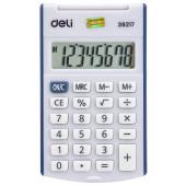 Калькулятор карманный Deli E39217/BLUE синий 8-разр.