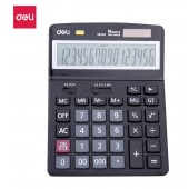 Калькулятор настольный Deli E39259 черный 16-разр.