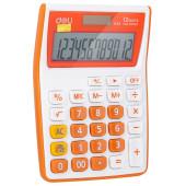 Калькулятор настольный Deli E1122/OR оранжевый 12-разр.