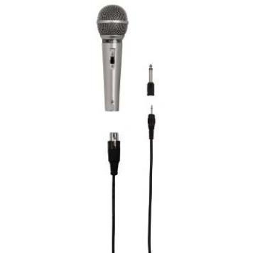 Микрофон проводной Hama H-46040 3м серебристый