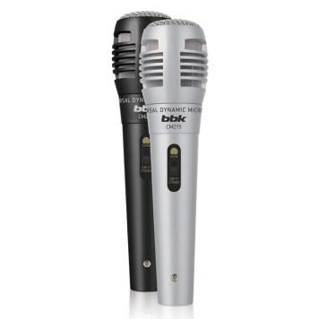 Микрофон проводной BBK CM215 2.5м черный/серебристый