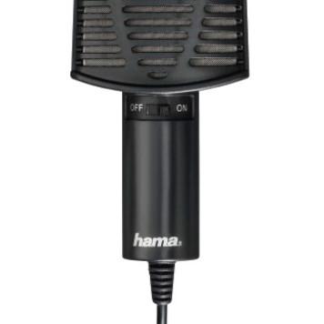 Микрофон проводной Hama 00139906 2м черный -2