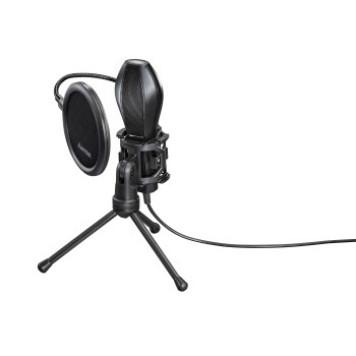 Микрофон проводной Hama Stream 2м черный -1