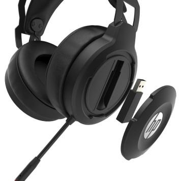 Наушники с микрофоном HP X1000 Wireless черный накладные Radio оголовье (7HC43AA) -2