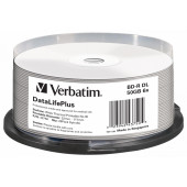 Диск BD-R Verbatim 50Gb 6x Cake Box (25шт) Double Layer Printable (43750)