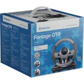 Руль Defender Forsage GTR 12кноп. (с педалями) черный