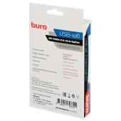 Разветвитель USB 2.0 Buro BU-HUB4-0.3-U2.0-Splitter 4порт. черный