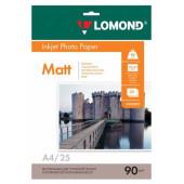 Бумага Lomond 0102029 A4/90г/м2/25л./белый матовое для струйной печати