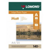 Бумага Lomond 0102073 A4/140г/м2/25л./белый матовое для струйной печати