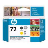 Печатающая головка HP 72 C9384A черный матовый/желтый для HP DJ T1100/T610/T1120/T1200/T1118
