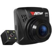 Видеорегистратор Artway AV-398 GPS Dual Compact черный 12Mpix 1080x1920 1080p 170гр. GPS