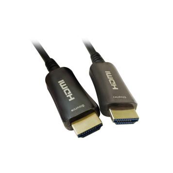 Кабель аудио-видео Digma HDMI 2.0 AOC HDMI (m)/HDMI (m) 50м. Позолоченные контакты черный (BHP AOC 2.0-50) -1