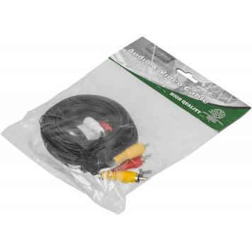 Кабель аудио-видео Ningbo 3хRCA (m)/3хRCA (m) 5м. черный (JAAC027-5) -1