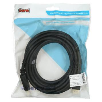 Кабель аудио-видео Buro v 1.2 DisplayPort (m)/DisplayPort (m) 5м. Позолоченные контакты черный (BHP DPP_1.2-5)