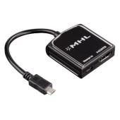 Адаптер аудио-видео Hama H-54510 HDMI (f)/Micro HDMI (m) 0.2м. черный (00054510)
