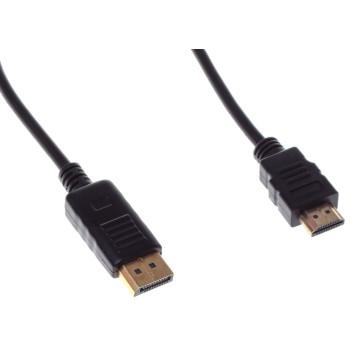 Кабель аудио-видео Buro DisplayPort (m)/HDMI (m) 1.8м. феррит.кольца Позолоченные контакты черный (BHP RET HDMI_DPP18) -1