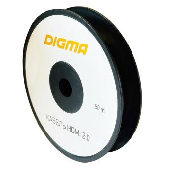 Кабель аудио-видео Digma HDMI 2.0 AOC HDMI (m)/HDMI (m) 50м. Позолоченные контакты черный (BHP AOC 2.0-50) -3