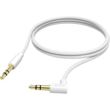 Адаптер аудио Hama Jack 3.5 (m)/Jack 3.5 (m) 1м. Позолоченные контакты белый (00173875) -1