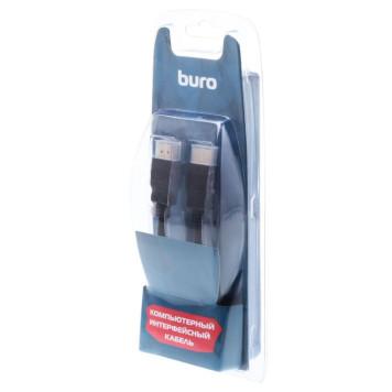 Кабель аудио-видео Buro HDM 1.4 HDMI (m)/HDMI (m) 1.8м. феррит.кольца Позолоченные контакты черный (BHP RET HDMI18) -3