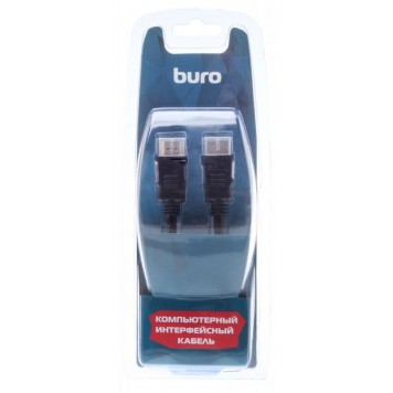 Кабель аудио-видео Buro HDM 1.4 HDMI (m)/HDMI (m) 1.8м. феррит.кольца Позолоченные контакты черный (BHP RET HDMI18)