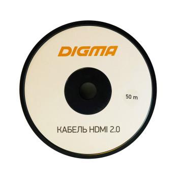 Кабель аудио-видео Digma HDMI 2.0 AOC HDMI (m)/HDMI (m) 50м. Позолоченные контакты черный (BHP AOC 2.0-50) -2