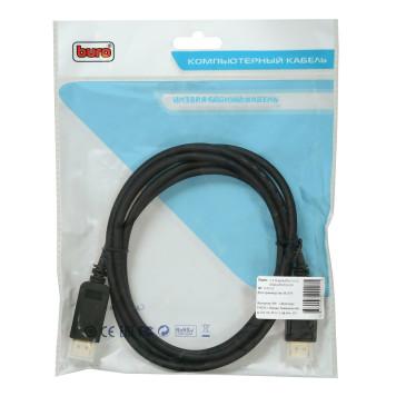 Кабель аудио-видео Buro V.1.2 DisplayPort (m)/DisplayPort (m) 2м. Позолоченные контакты черный (BHP DPP_1.2-2)