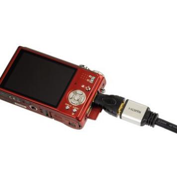 Адаптер аудио-видео Hama H-39861 mini-HDMI (m)/HDMI (f) Позолоченные контакты черный (00039861) -3