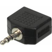Адаптер аудио Ningbo JAAA095-B 2xJack 3.5 (f)/Jack 3.5 (m) черный