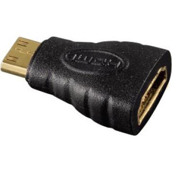 Адаптер аудио-видео Hama H-39861 mini-HDMI (m)/HDMI (f) Позолоченные контакты черный (00039861) -1