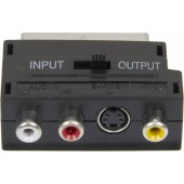 Адаптер аудио-видео Ningbo SCART (m)/3хRCA (f)/S-VIDEO (f) черный (JSP005)