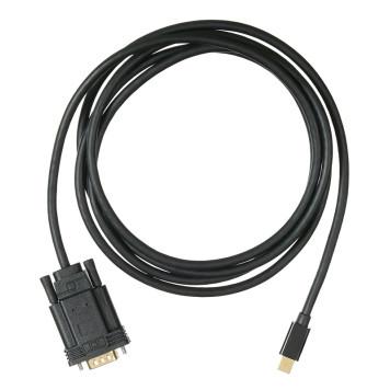 Кабель аудио-видео Buro 1.1v miniDisplayport (m)/VGA (m) 2м. Позолоченные контакты черный (BHP MDPP-VGA-2) -3