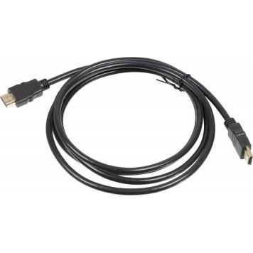 Кабель аудио-видео HDMI (m)/HDMI (m) 2м. Позолоченные контакты черный