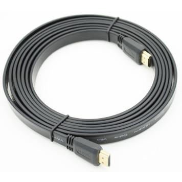 Кабель аудио-видео FLAT HDMI (m)/HDMI (m) 3м. черный