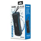 Колонка порт. Sven PS-220 черный/синий 10W 2.0 BT/3.5Jack/USB 10м 1200mAh