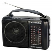Радиоприемник портативный Supra ST-18U черный USB SD