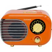 Радиоприемник настольный Telefunken TF-1682UB оранжевый/золотистый USB microSD