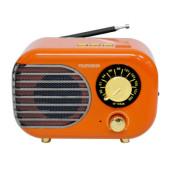 Радиоприемник настольный Telefunken TF-1682B оранжевый/золотистый USB microSD