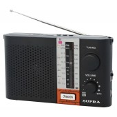 Радиоприемник портативный Supra ST-17U черный USB SD