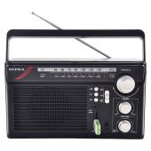 Радиоприемник портативный Supra ST-33U черный USB SD