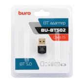 Адаптер USB Buro BU-BT502 Bluetooth 5.0+EDR class 1.5 20м черный