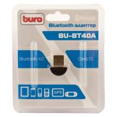 Адаптер USB Buro BU-BT40A Bluetooth 4.0+EDR class 1.5 20м черный