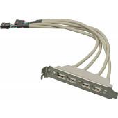 Адаптер USB Bracket 4xUSB2.0 Bulk