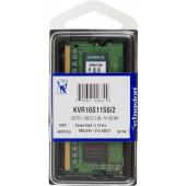 Память DDR3 2Gb 1600MHz Kingston KVR16S11S6/2 RTL PC3-12800 CL11 SO-DIMM 204-pin 1.5В
